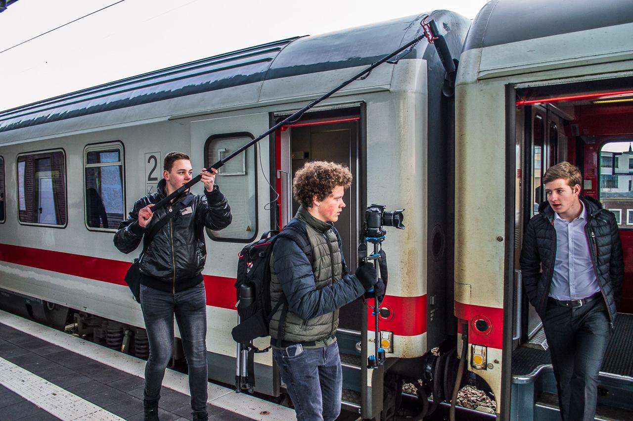 Jugend macht Politik, Dreh des Imagefilms mit Ahmann & Schlieker (Kamera: Erik Schlieker)